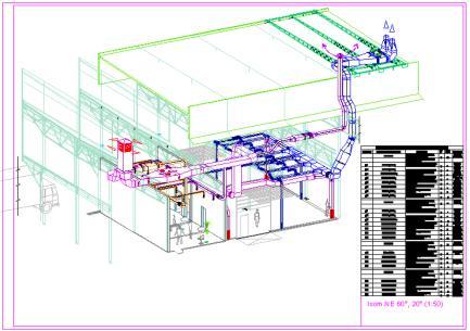 Схема вентиляции производственных цехов и склада готовой продукции принята комбинированная с раздачей приточного...