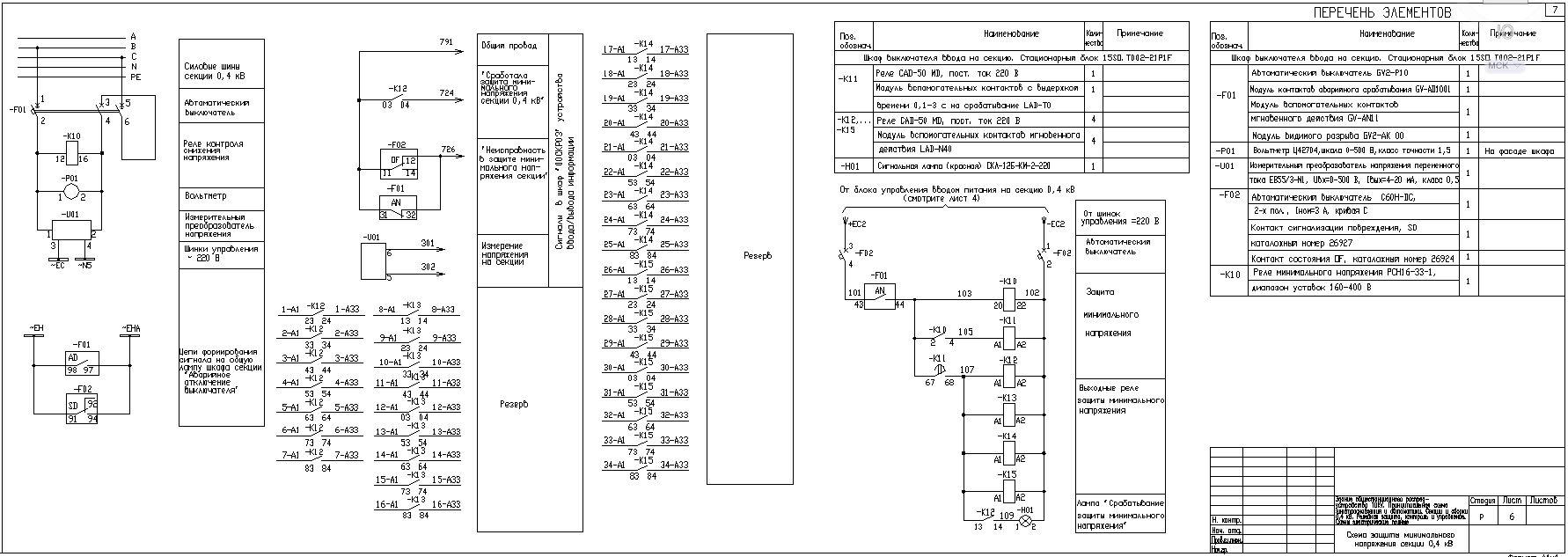 схема шкафа авр 0,4 с секционным выключателем