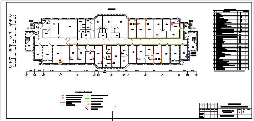 Схема разводки СКС и коробов