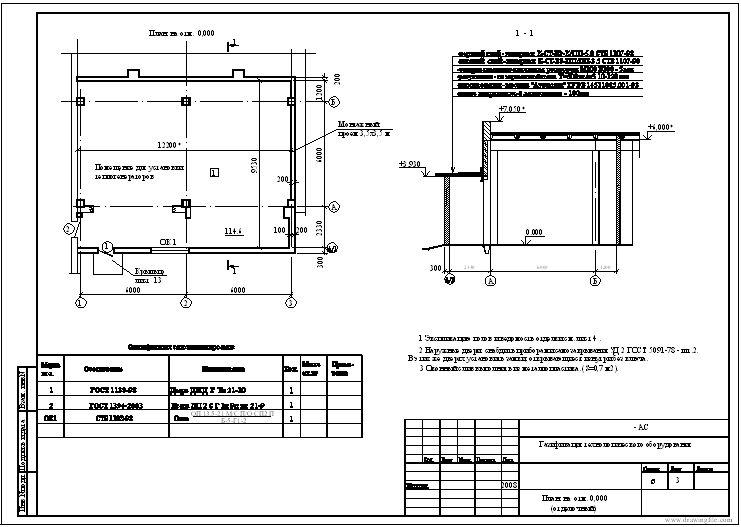 Раздел АС здания под