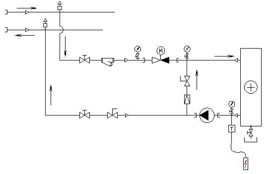 схема узла обвязки в