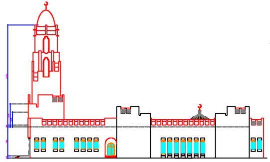Чертежи востока. Мечеть со столовой на 2000 мест.
