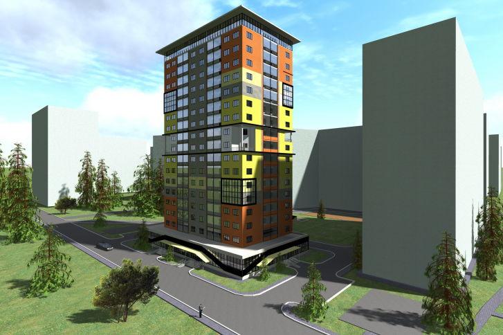 Дипломные и курсовые работы по архитектуре Архитектура и  Дипломная работа по архитектуре Многоэтажный жилой дом в Саратове